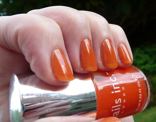 chelsea flower show orange juicy sheer 1