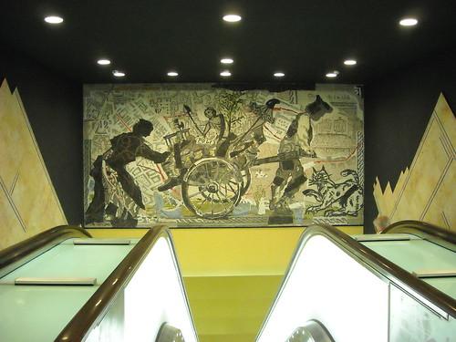 """Mosaic by William Kentridge (Johannesburg 1955) - La stazione """"Toledo"""" della metropolitana di Napoli, inaugurata il 17.9.12 / """"Toledo"""" Underground Station in Naples, open 17.9.12"""