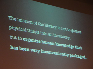 The mission of the library