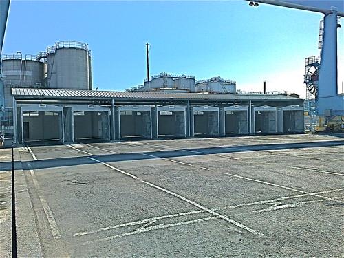 Mini tunnel mobile frontale per coprire carico e scarico dei container
