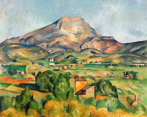 Paul Cézanne - Mont Sainte-Victoire, 1895 at Barnes Foundation Philadelphia PA