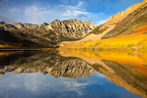 autumn mountain reflection fall bravo sierra aspen northlake bishopcreekcanyon