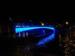 Illumination du Pont Albert 1er sur la Meuse