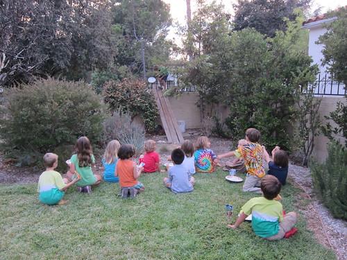 Kids watching Ezra