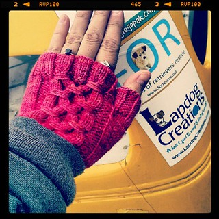 Broke out the fingerless gloves at #nhms  its a cold #raceday in NH! #knitting #knitsofinstagram #fall #racecar