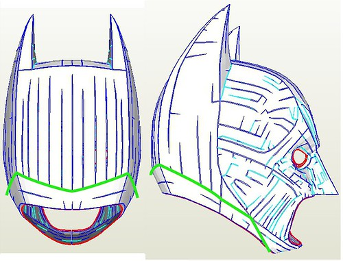 Batman tdk cowl and batsuit pepakura files | rpf costume and prop.