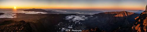 panorama mer sunrise landscape island soleil sony du nuages réunion lever montagnes panoramique volcan pitondesneiges îledelaréunion nex5n