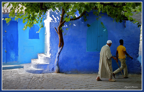388. Walking in the Early Morning, Chaouen, Morocco