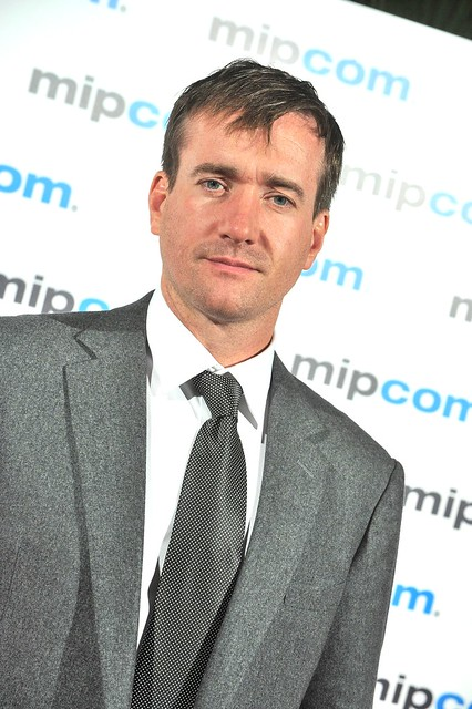 MIPCOM 2012 Red Carpet: Matthew Macfadyen, stoic in grey