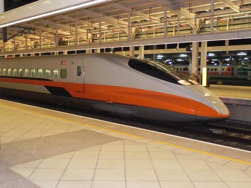 台灣高鐵列車。攝影:美齡