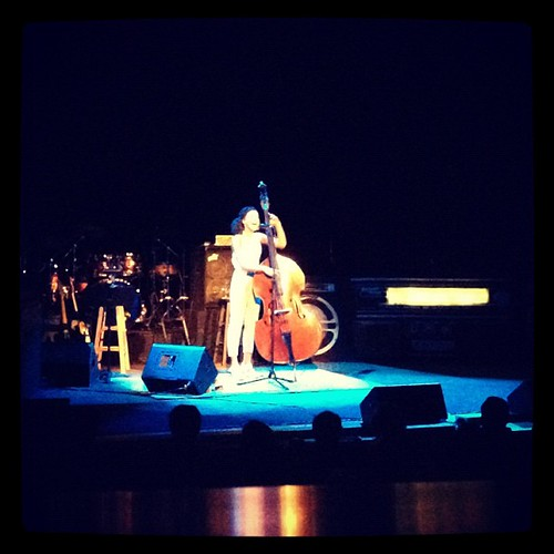 The lovely Esperanza Spalding and her big old' bass. Can't believe I'd never heard her music until today.