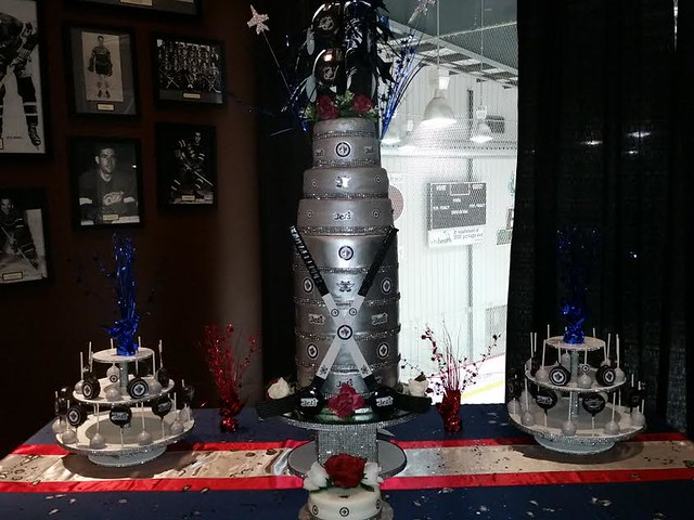 Hockey Wedding Themed Cake by Marcia LaPerre