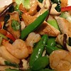 Shrimp with lemongrass sauce