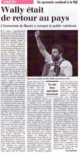 Papier Tournée Aveyron 2003