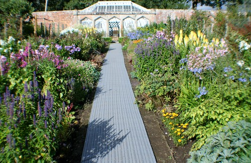 Garden at Abbotsford House, Scotland