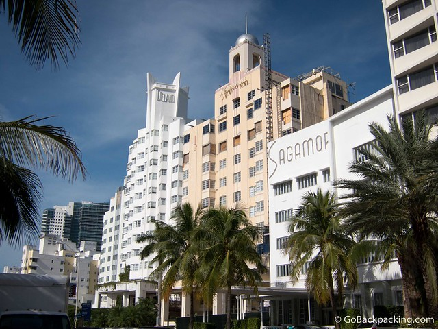 Art deco buildings on South Beach