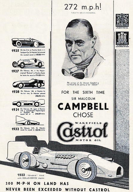 1933 Castrol ad ft. Blue Bird