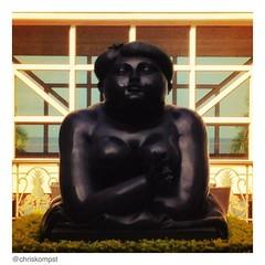 Botero's 'Woman smoking a cigarette.'