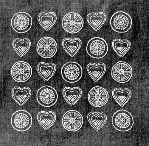 1950s Swedish embroidery hearts