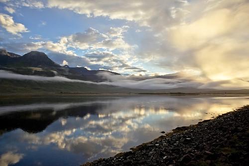 sunset reflection iceland ísland speglun sólsetur fáskrúðsfjörður faskrudsfjordur jónínaguðrúnóskarsdóttir