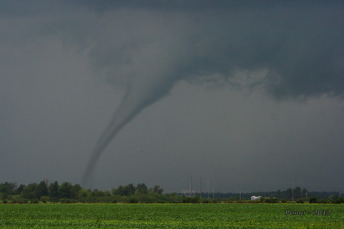 Tornado Spawned by Hurricane Isaac Remnants at Ash Hill, MO