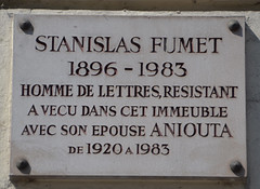 Photo of Stanislas Fumet grey plaque