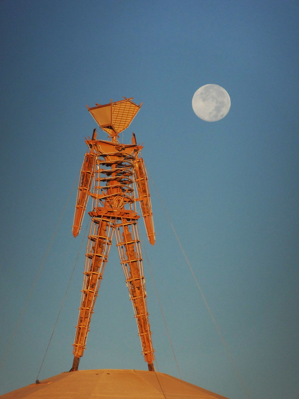 Burning Man 2012 - Man and the Moon