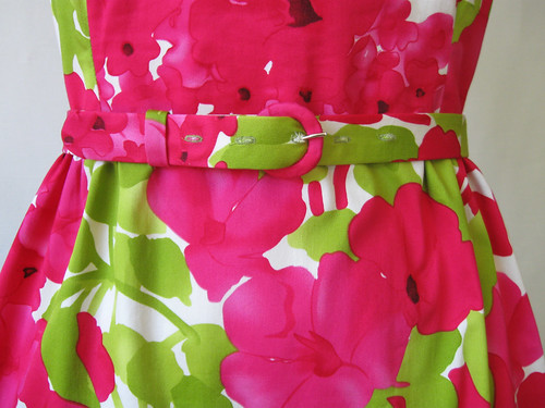 pink green dress belt