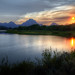 Sunset over Grand Teton National Park