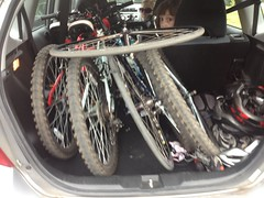 3 Bikes in a Honda Fit
