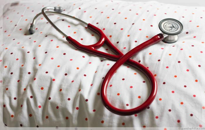 burgundy stethoscope