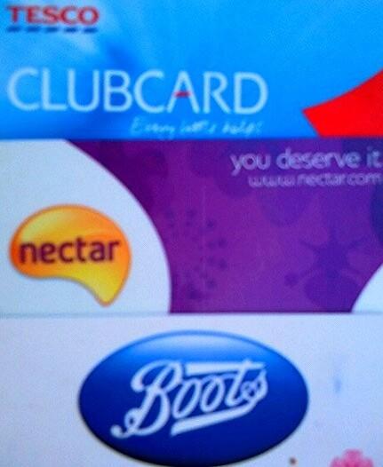 UK Loyalty Cards - Boots Advantage, Sainsbury Nectar &Tesco Clubcard