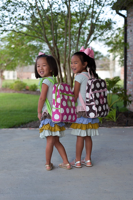 girls first day of school-9151