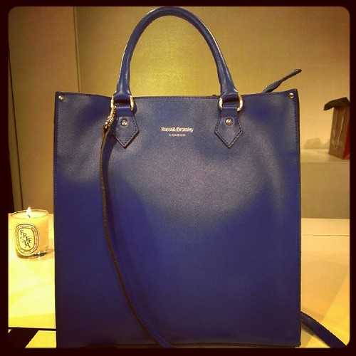 Russell & Bromley cobalt tote