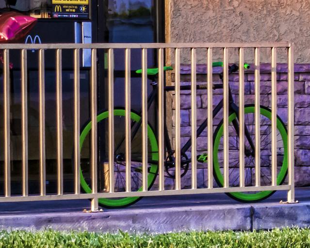 Neon bike rims