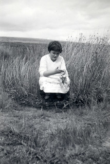 Examining the local flora about 1959