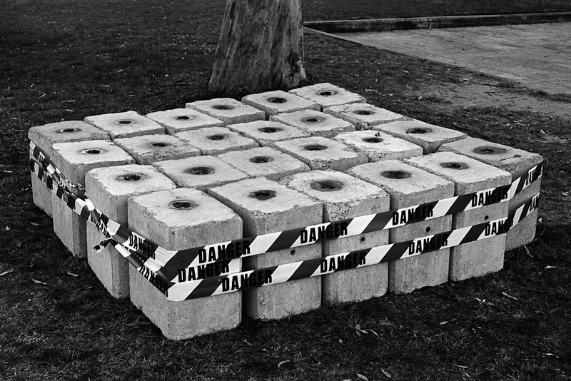 Dangerous bricks, University of Queensland, Brisbane