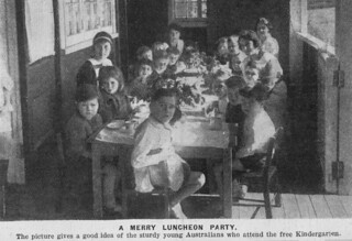 Lunch at an inner city Paddington Brisbane 1922