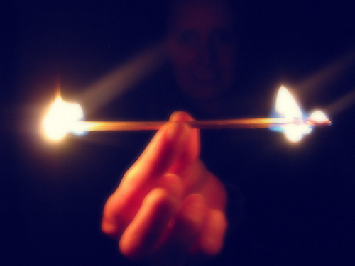 Burning the matchstick at both ends