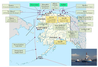 Shell arctic drilling deployment scheme