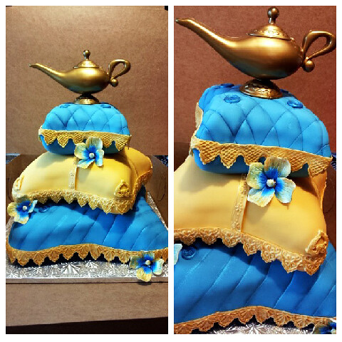 Arabian Nights Sweet 16 Cake/ pillow Cake   Flickr - Photo Sharing!