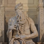 Michelangelo, Moses, from the Tomb of Pope Julius II, Church of San Pietro in Vincoli, c. 1515 (5)