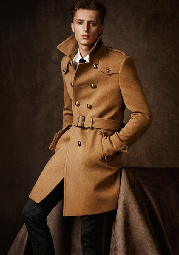 07 man military trench coat