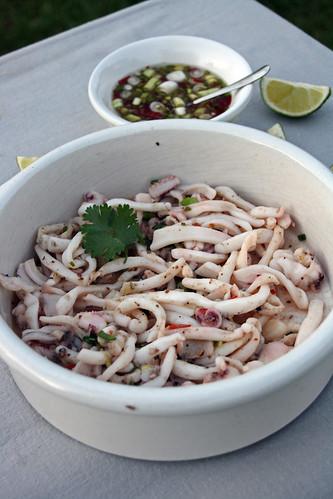 Calamars et mélange sel de Maldon