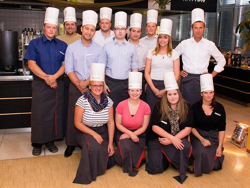 Die Küchentruppe.
