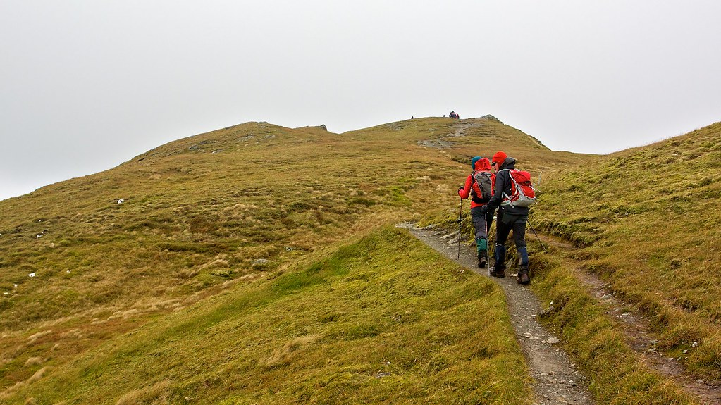 Heading up Meall nan Tarmachan