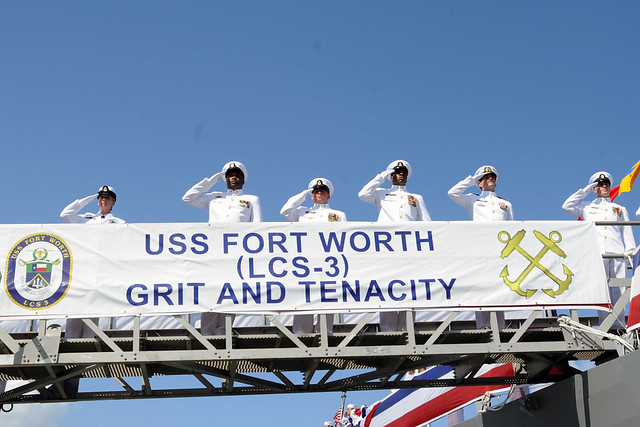 USS Fort Worth Commissioning Ceremony