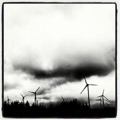 #Ireland #Irish #Kerry #B&W #Monochrome #Wind #Farm #Cloud #insta_ireland