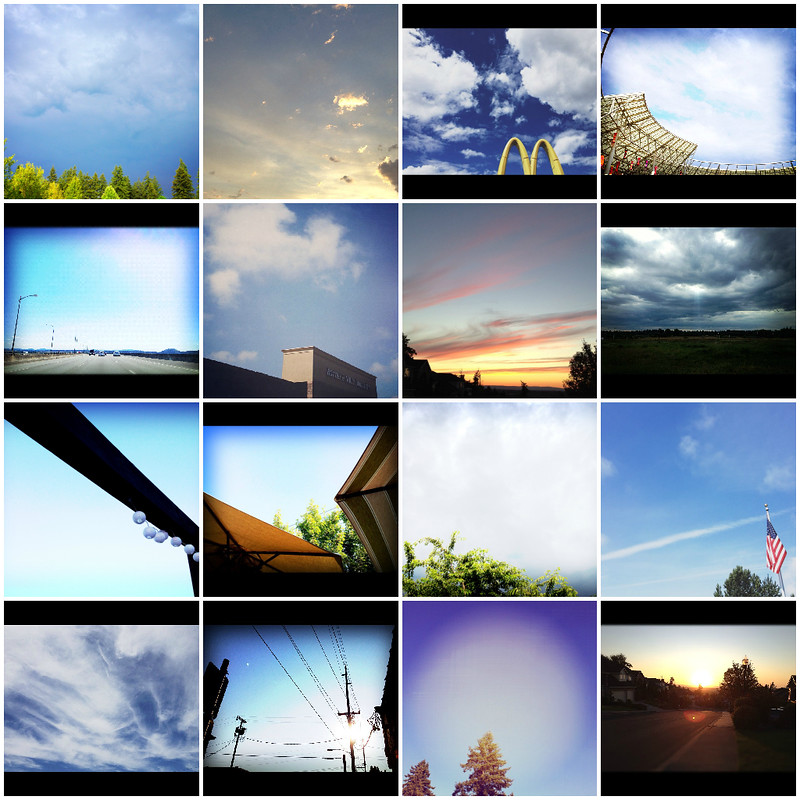 summer skies collage
