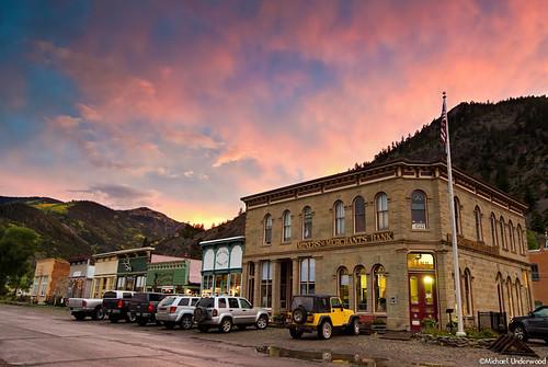 autumn sunset mountain fall colors rain town colorado lakecity sanjuanmountains nikond7000
